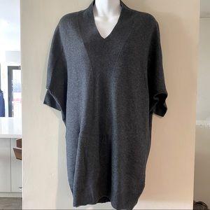 All Saints V-neck Short Sleeve Tunic Sweater
